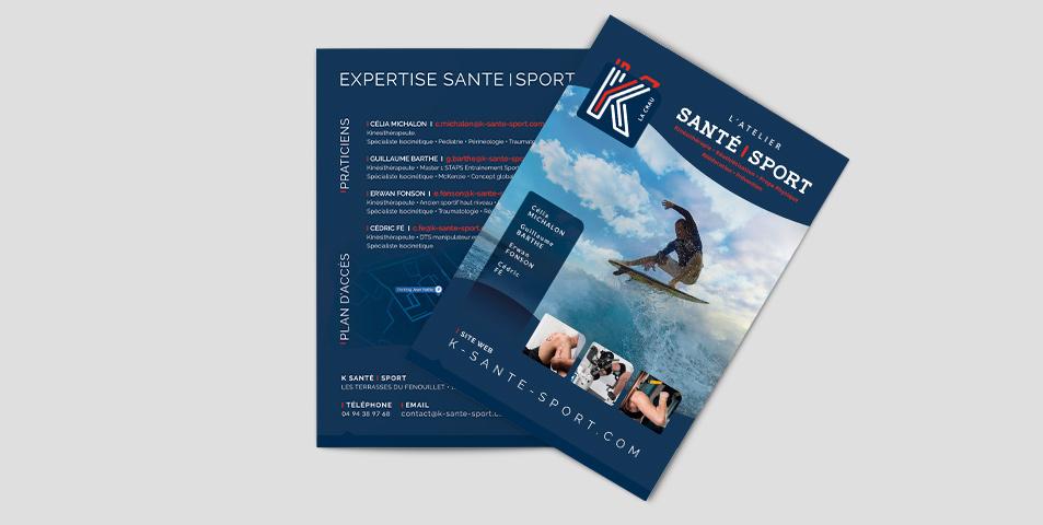 K Santé-Sport dépliants